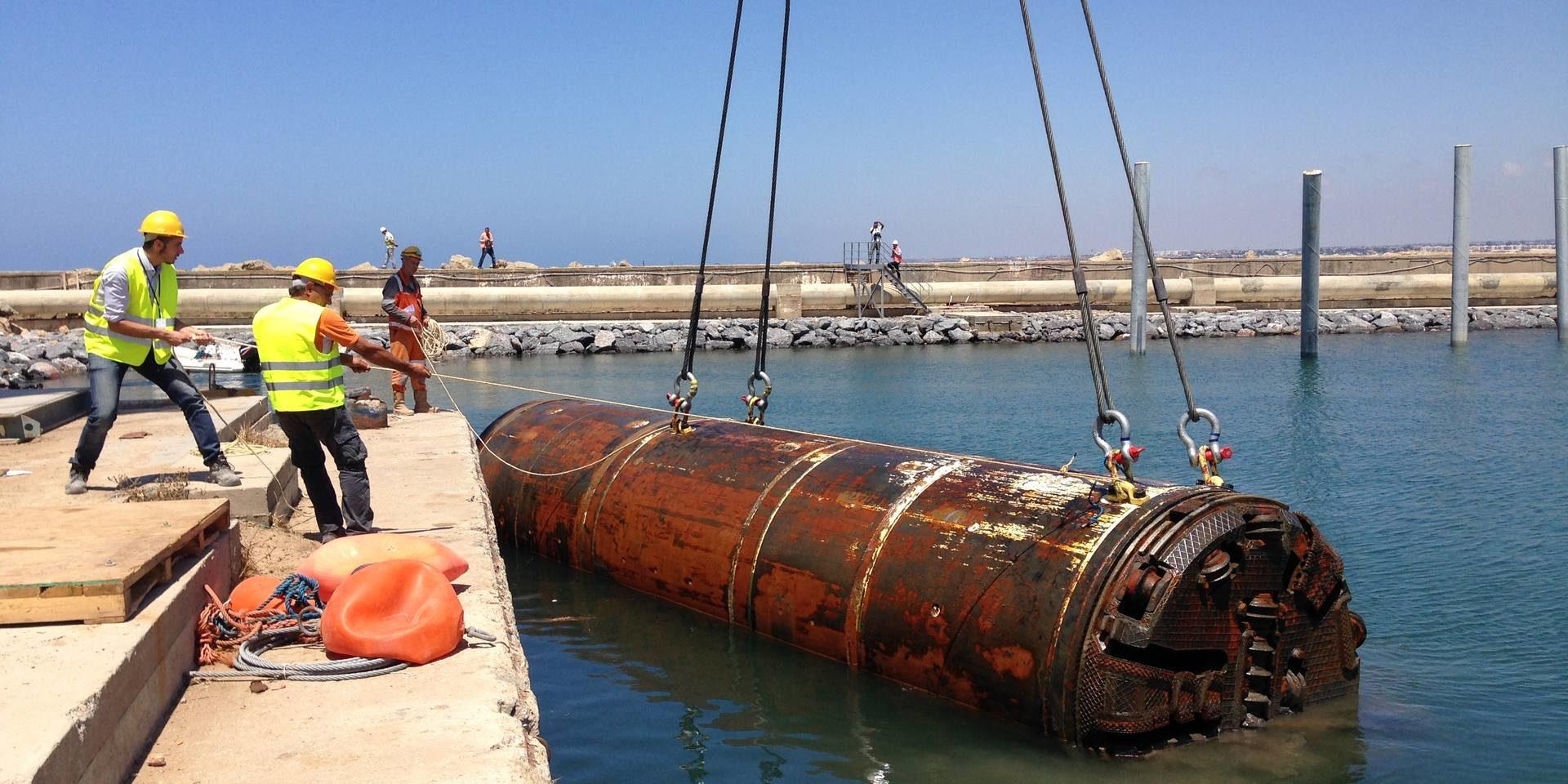 Casablanca - Emissaire de rejet marin des eaux d'épuration de Sidi Bernoussi